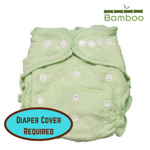imagine one size bamboo diaper in emerald green requires a diaper cover