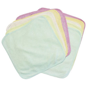 "Bamboo Cloth Wipes, 100% bamboo, 10 pack are made in the USA and measure 8"" x 8"""