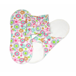 3 pack of imsevimse menstrual pad in garden print