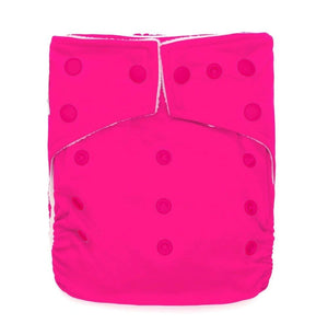 Kawaii Baby One Size Original Squared Pocket Cloth Diaper plus 2 microfiber Inserts-carnation pink