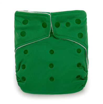Green Flowers Design Bamboo Charcoal Cloth Nappy