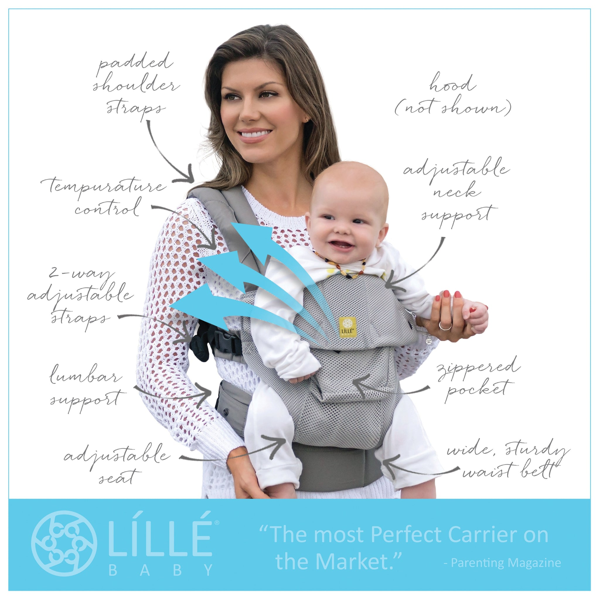 4787b397bfc Lillebaby Airflow Complete 6-in-1 Carrier - Jillian s Drawers