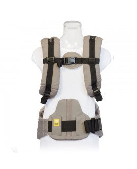 "Lillebaby Lumbar Support Pad in grey, measures 8"" x 8.2"""