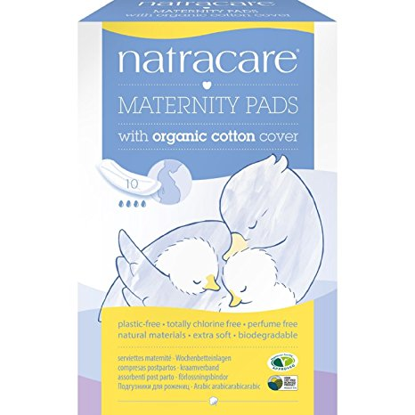 Natracare organic maternity pads in the box- 10 pack