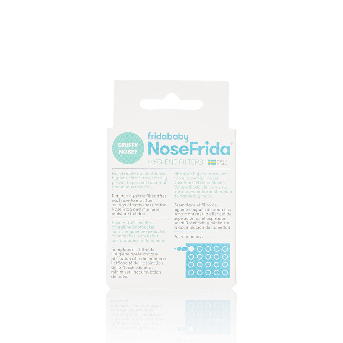 NoseFrida replacement hygienic filter package contains 20 filters