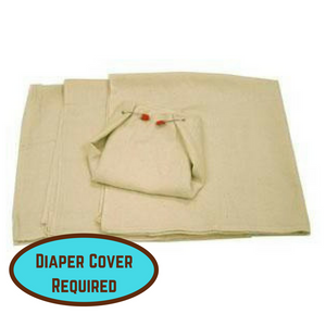 OsoCozy Birdseye Weave Flat Diapers, diaper cover required for use