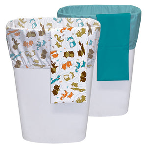 "Planet Wise diaper pail liners measure 27"" x 27"" the equivalent of a 13 gallon kitchen trash bag and are made in USA"