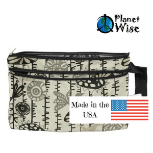 Planet Wise wet dry clutch is made in the USA and measures 11 x 7.5 inches