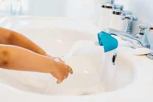 Prince Lionheart faucet extender makes it easy for children to learn self care