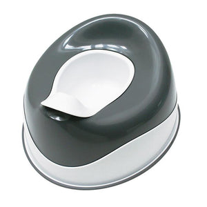 Prince Lionheart PottyPod Squish Small Toilet, shown in grey and white