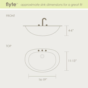 Puj Flyte Infant Tub fits in a sink for easy infant bathing