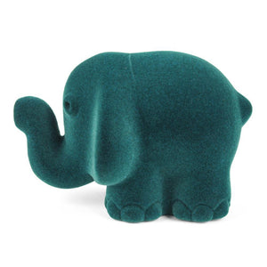 Rubbabu Wild Animal Elephant is blue-green and measures 4 inches