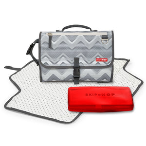 Skip Hop Pronto Changing Station includes pad, translucent wipes holder, and carrying case