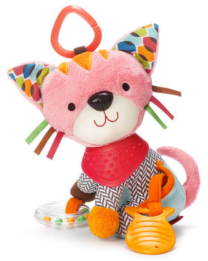 Skip Hop kitty, monkey, puppy, and elephant bandana buddies activity toys group