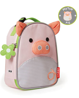 Assorted Skip Hop Lunch Bags in panda, cow, dino, and fox styles