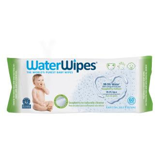 WaterWipes 60 count package of baby wipes