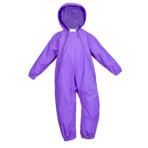 Purple Splashy One Piece Rain and Mud Suit