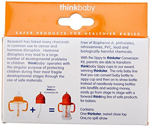 Thinkbaby accessory piece for converting sippy cups to straw cups, made in the USA