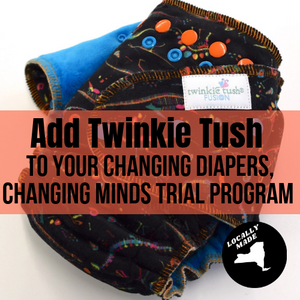 Twinkie Tush Fusion Fitted Diaper - Add on for our Changing Diapers, Changing Minds Cloth Diaper Trial