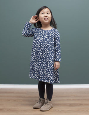 100% organic cotton winter water factory tahoe dress is made in New York State