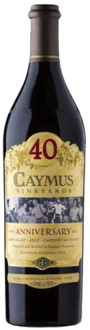 Caymus Vineyards Napa Valley Cabernet Sauvignon 2012 (40th Anniversary bottling)