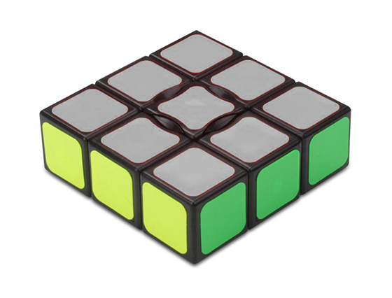 How to solve the 1x3x3 super floppy cube solution cube