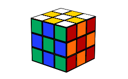 Checkboard cube | Cool Rubik's Cube Patterns To Make | KewbzUK