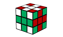 how to make cross patterns on a 3x3 rubiks cube