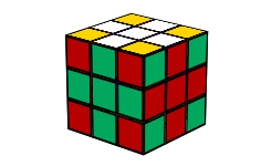 cross pattern on a 3x3 rubiks cube