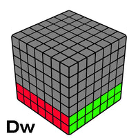 7x7 Wide Layer moves & Notation guides - UK Speed cubes Notation Guides