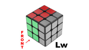 3x3 Wide layer notations guide - WCA official 3x3 notations Lw