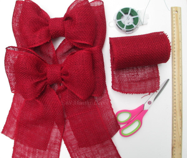 Inside Peek: Red Burlap Bows