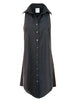 Swing Dress Black Polished Cotton
