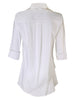 3/4 Sleeve Jenna White - Silky Cotton / Nylon / Spandex