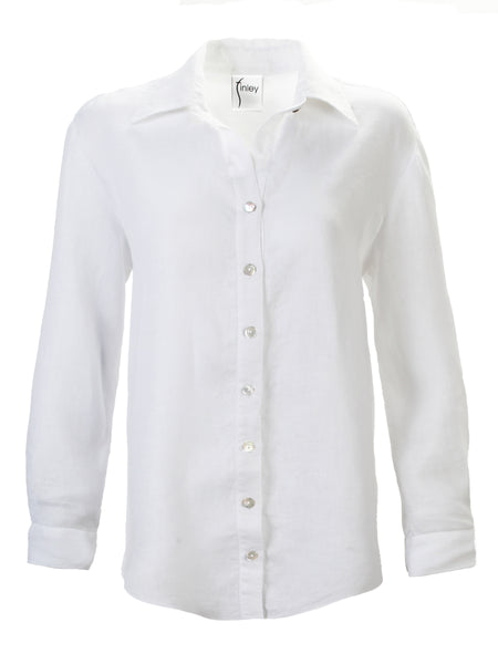 Washed Linen Monica Shirt White