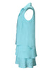 Jasmine Tier Dress Turquoise Linen