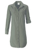 Alex Shirtdress Olive Polished Cotton
