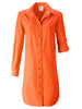 Alex Shirtdress Flame Polished Cotton