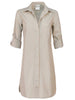 Alex Shirtdress Sand Polished Cotton