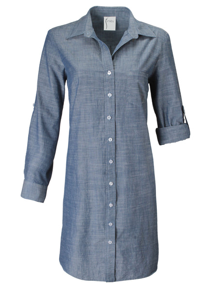Alex Short Chambray Shirtdress