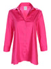 Trapeze Top 3/4 sleeve Fuchsia