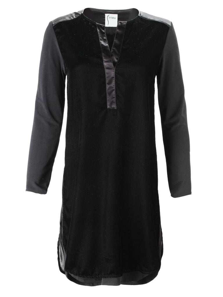 Kenzie Whisper Velvet Dress Black