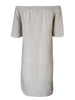 Louella Off Shoulder Dress Natural Linen