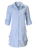 Jenna Dress Blue White Stripe