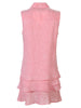 Washed Linen Jasmine Dress Coral Pink