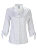 Jackie 3/4 Tie Sleeve Shirt White