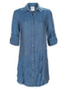 Washed Linen Jenna Dress Indigo