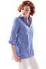 Trapeze Top Blue Stripe