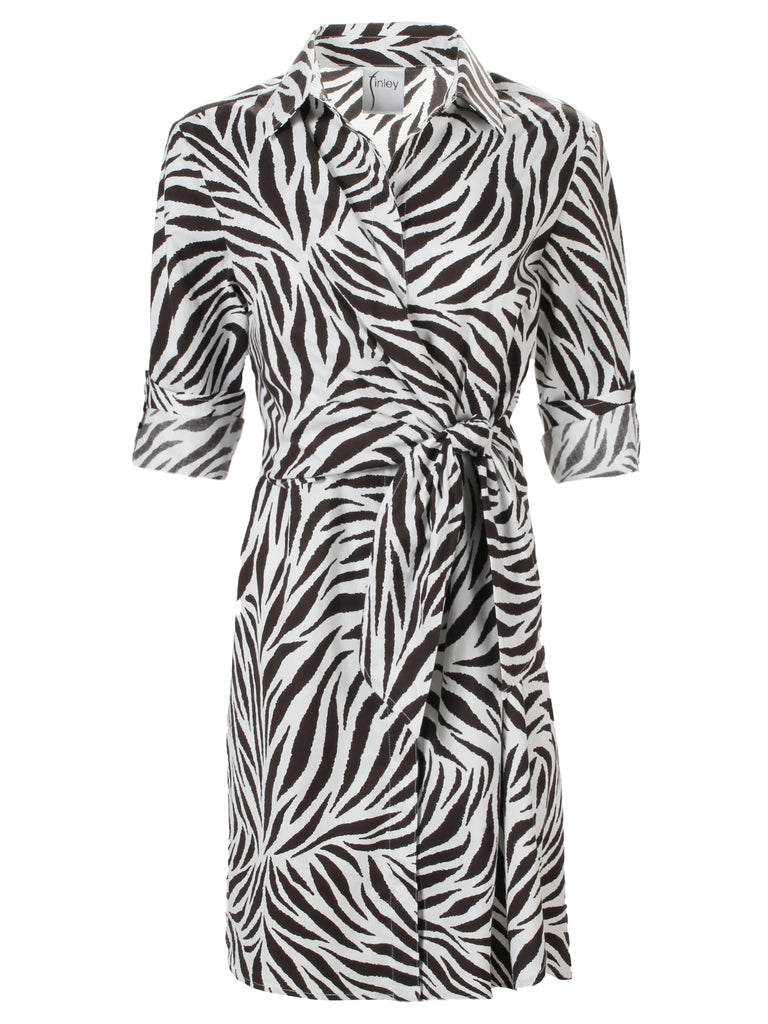 Raleigh Side Tie Dress Zebra Print