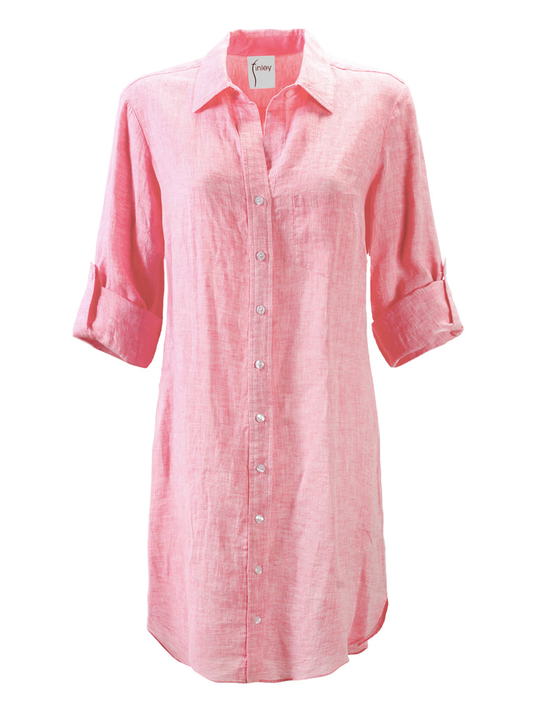 Washed Linen Alex Shirtdress